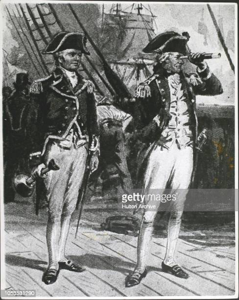 Lord Horatio Nelson at the Battle of Copenhagen placing a telescope to his blind eye or 'turning a blind eye' to the signal to disengage 2nd April...