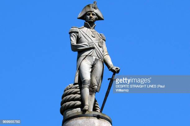 lord horatio nelson (nelson's column by william railton) - nelson's column stock photos and pictures