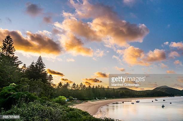 Lord Howe Island Lagoon Beach at sunrise