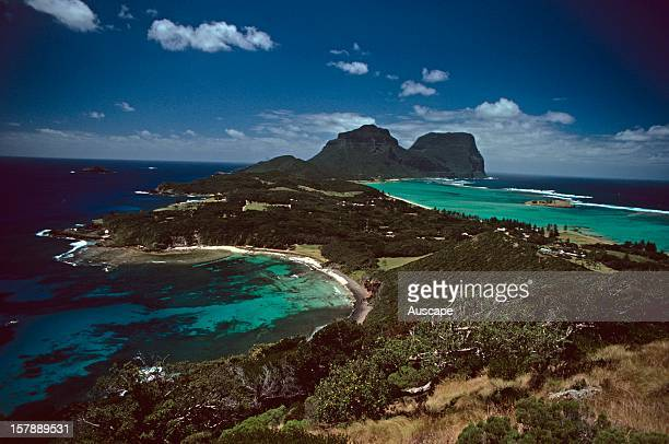 Lord Howe Island with Ned's Beach on the left New South Wales Australia