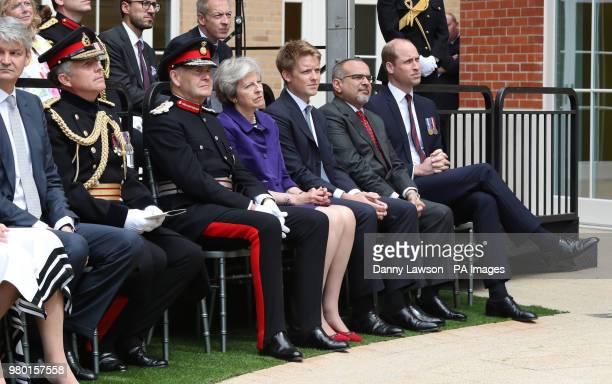 Lord Howe Sir John Peace Prime Minister Theresa May Hugh Grosvenor 7th Duke of Westminster Prince Salman bin Hamad bin Isa Al Khalifa and the Duke of...