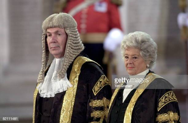 Lord Irvine Of Lairg Lord Chancellor With Betty Boothroyd Speaker Of The House Of Commons At The Forty Sixth Commonweath Parliamentary Conference In...