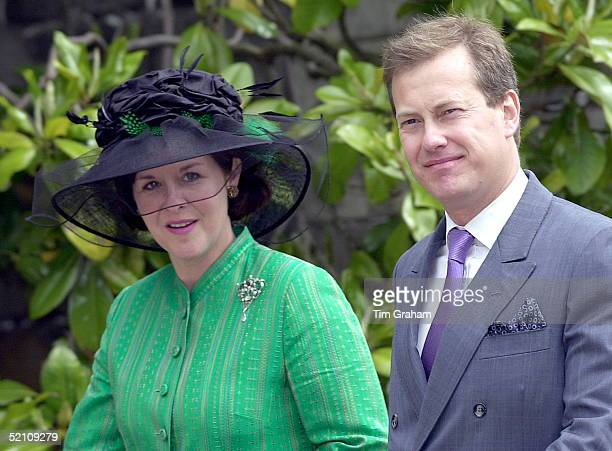Lord Ivor And Lady Penny Mountbatten Arriving At St George's Chapel Windsor Berkshire To Mark The 80th Birthday Of Prince Philip