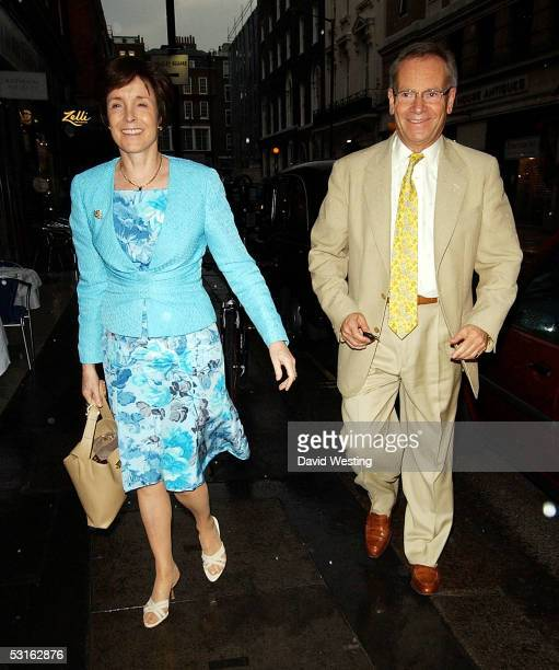 Lord Jeffrey Archer and his wife attend the Private View for The Sixties Set An Inside View By Robin DouglasHome at The Air Gallery on June 28 2005...