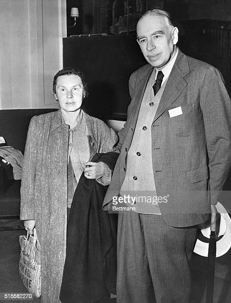 Lord John Maynard Keynes, of England, arrives at Bretton Woods for the International Monetary Conference, with his wife Lydia. Lord Keynes served as...