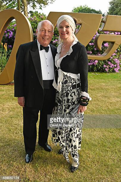 Lord Julian Fellowes and Emma Joy Kitchener attend the Duke of Edinburgh Award 60th Anniversary Diamonds are Forever Gala at Stoke Park on June 9...
