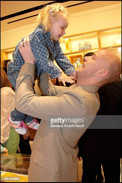 Lord Justin Portman and daughter Neva at The Reopening Of Louis Vuitton Store In Moscow In Association With Natalia Vodianova 's Foundation Naked...
