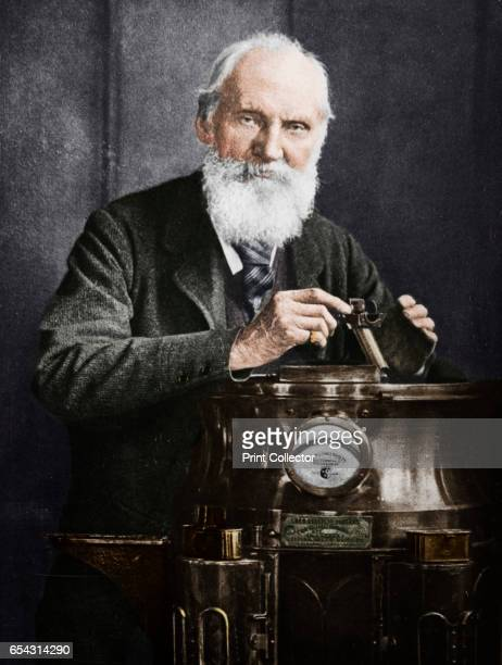 Lord Kelvin Scottish mathematician and physicist with his compass 1902 Born William Thomson Lord Kelvin was educated at Glasgow and Cambridge He was...