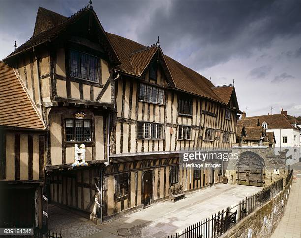 Lord Leycester Hospital High Street Warwick Warwickshire c19902010 Exterior view of the timber framed building from the South West looking towards...