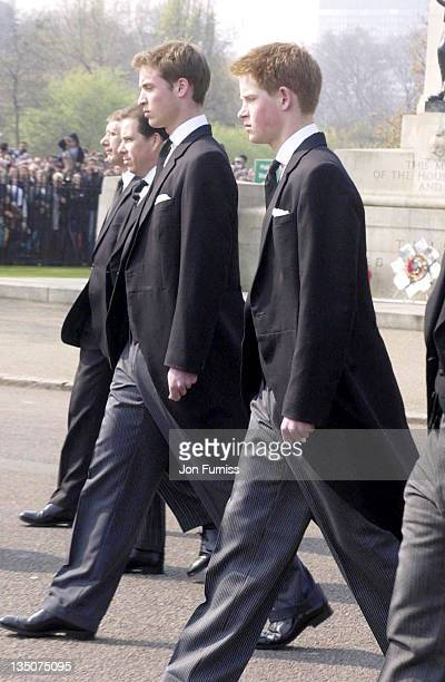 Lord Linley Prince William and Prince Harry