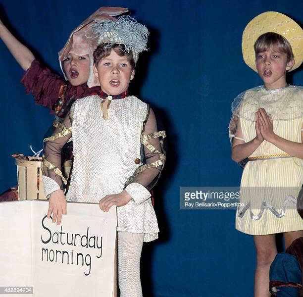 Lord Linley son of Princess Margaret and Anthony ArmstrongJones plays a pageboy in his school production of Mrs Malone at Ashdown House in East...