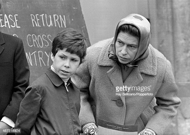 Lord Linley with his aunt Queen Elizabeth II during the Badminton Horse Trials in Gloucestershire on 15th April 1972