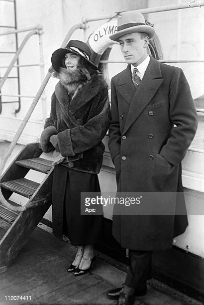 Lord Louis Mountbatten and his wife Lady Edwina Ashley here aboard liner RMS Olympic c 1925