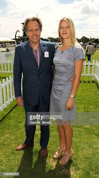 Lord March and Lady Alexandra Gordon Lennox attend the Cartier International Polo Day at Guards Polo Club on July 25 2010 in Egham England