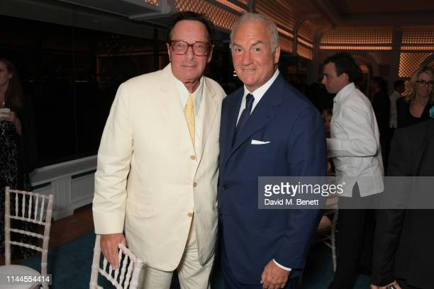 Lord Maurice Saatchi and CEO of Finch Partners Charles Finch attend the 10th Annual Filmmakers Dinner hosted by Charles Finch Edward Enninful and...