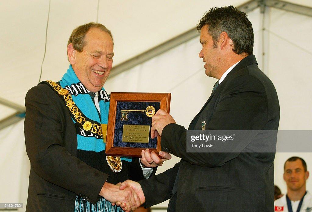 Lord Mayor Of Adelaide Michael Harbison Presents Port