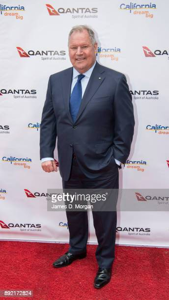 Lord Mayor of Melbourne Robert Doyle attends a party hosted by Qantas to celebrate their first Dreamliner from Melbourne to Los Angeles on December...