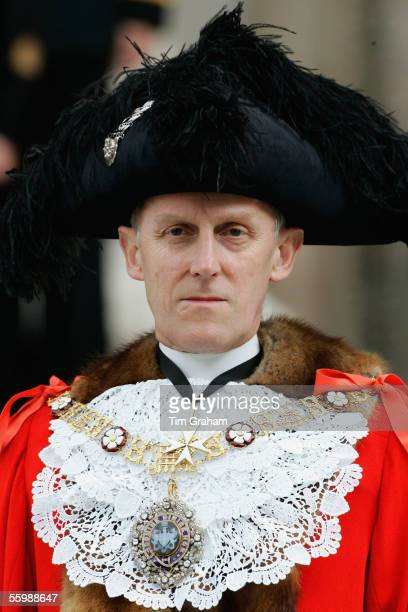 Lord Mayor of the City of London Michael Berry Savory looks on after a service to mark the 200th Anniversary of Nelson's victory at Trafalgar on...