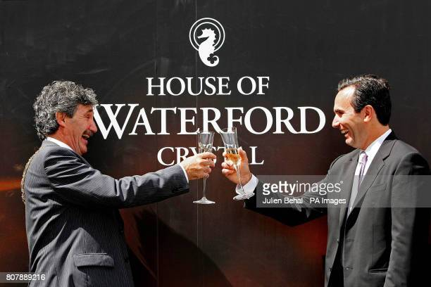 Lord Mayor of Waterford John Halligan and WWRD Chief Executive Pierre de Villemejane at the opening of the new Waterford Crystal centre on the Mall...