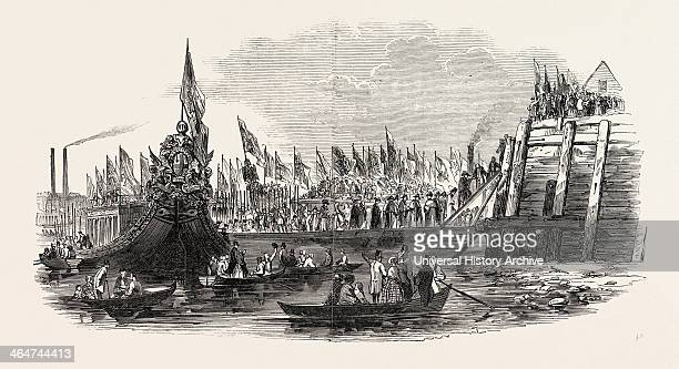 Lord Mayor's Show The Landing At Westminster London UK 1846