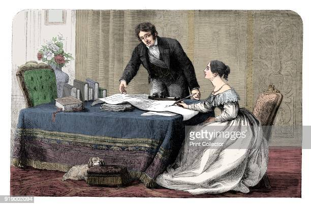 Lord Melbourne instructing a young Queen Victoria 18191901 1837 Artist Unknown