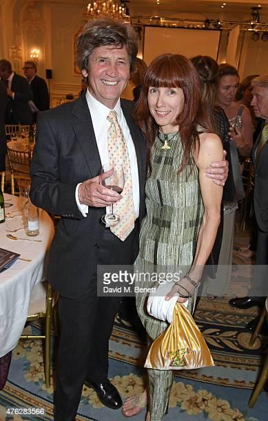 Lord Melvyn Bragg and Sylvie Guillem attend an after party following the South Bank Sky Arts awards at The Savoy Hotel on June 7 2015 in London...