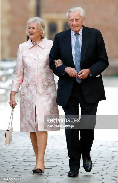 Lord Michael Heseltine arrives to attend Evensong at the Chapel Royal Hampton Court Palace to celebrate the Centenary of the founding of the...