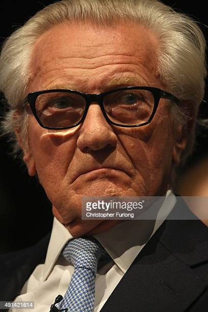 Lord Michael Heseltine attends the second day of the Conservative Party Conference at Manchester Central on October 5 2015 in Manchester England The...