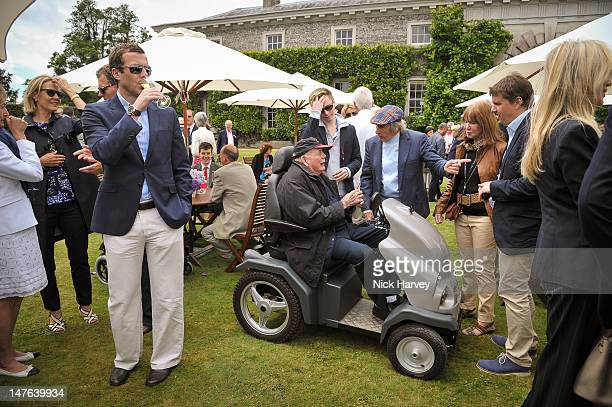 Lord Montagu of Beaulieu Henry Schofield Sir Jackie Stewart and Lady Helen Stewart attend Cartier Style Luxe Lunch Reception at Goodwood Festival of...