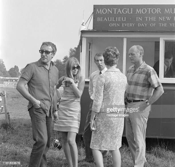 Lord Montagu with Peter Sellers and Britt Ekland at Beaulieu 1966 Creator Unknown