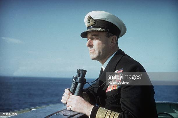Lord Mountbatten 1st Earl Mountbatten of Burma Commander of the Mediterranean Fleet on naval exercises at Malta and Gibraltar in 1956