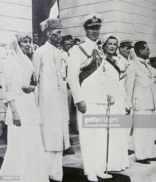 Lord Mountbatten with Mohammed Ali Jinnah and Fatima Jinnah at Pakistan's independence in 1947
