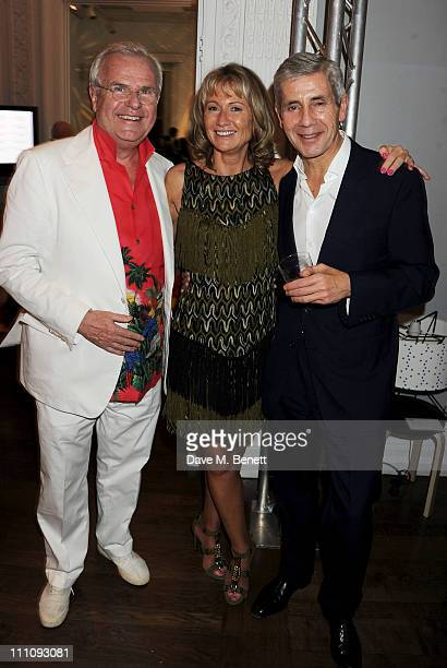 Lord Myners Lady Alison Myners and Stuart Rose attend The ICA Fundraising Gala held at the Institute of Contemporary Arts on March 29 2011 in London...