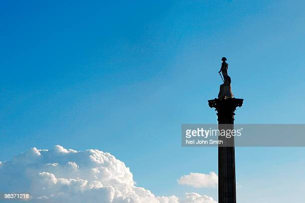 lord nelson - nelson's column stock photos and pictures