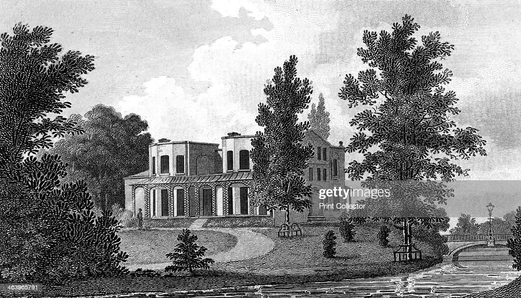 Lord Nelson's Villa at Merton, 19th century.Artist: A Warren : News Photo