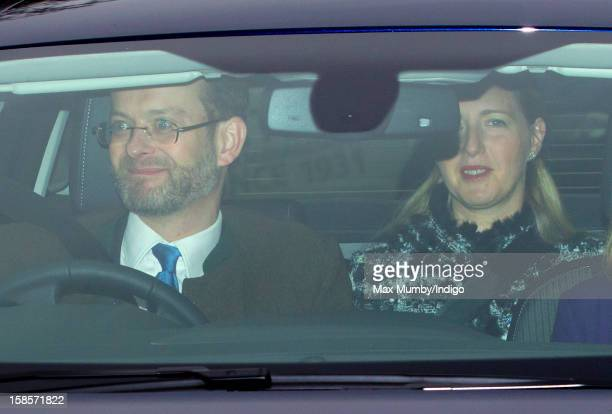 Lord Nicholas Windsor and Lady Nicholas Windsor attend a Christmas lunch for members of the Royal Family hosted by Queen Elizabeth II at Buckingham...