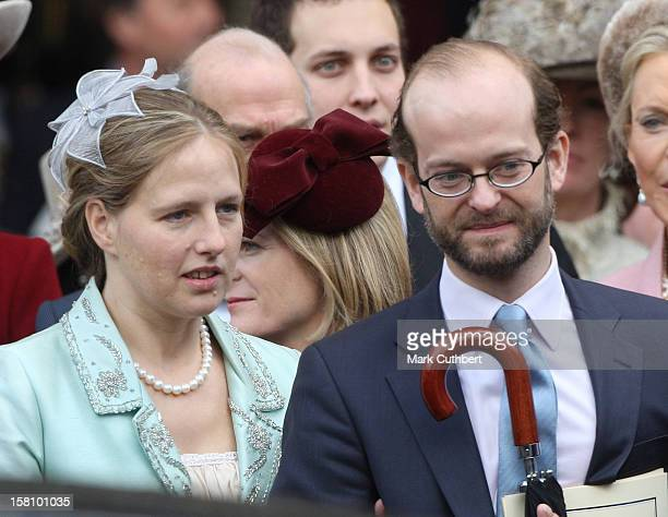 Lord Nicholas Windsor And Lady Paola Windsor Attend A Service Celebrating Queen Elizabeth Ii And Prince Philip The Duke Of Edinburgh'S 60Th Diamond...