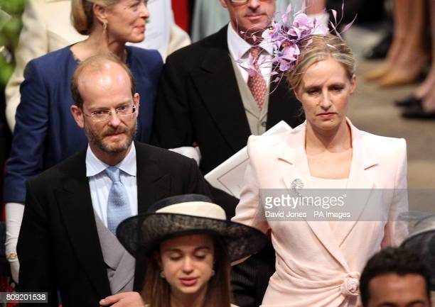 Lord Nicholas Windsor and Lady Paola Windsor leave Westminster Abbey