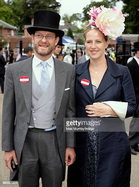 Lord Nicholas Windsor and wife Paola Doimi de Lupis de Frankopan attend the fifth and final day of Royal Week at Ascot Racecourse on June 20 2009 in...