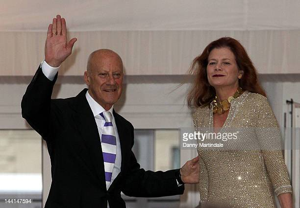 Lord Norman Foster and Elena Ochoa Foster attend the ARK Gala Dinner at Kensington Gardens on May 10 2012 in London England