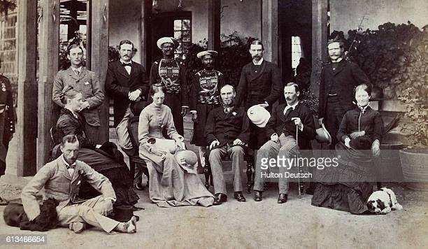 Lord Northbrook the Viceroy of India amongst a group of British and Indian officials at Simla