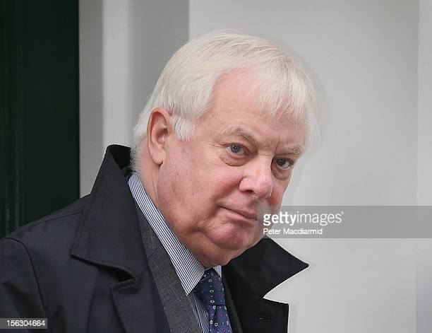 Lord Patten Chairman of the BBC Trust leaves home on November 13 2012 in London England Tim Davie has been appointed the acting Director General of...