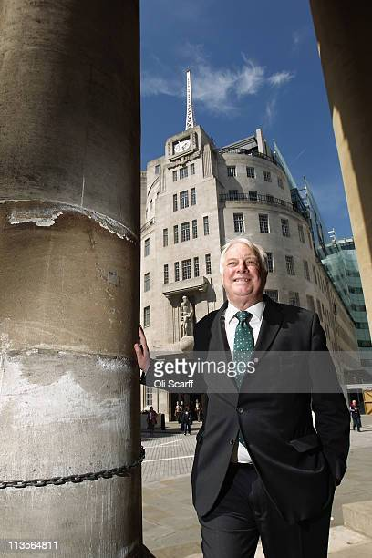 Lord Patten the new BBC Trust chairman poses for a photograph outside BBC Broadcasting House on his first day in the position on May 3 2011 in London...