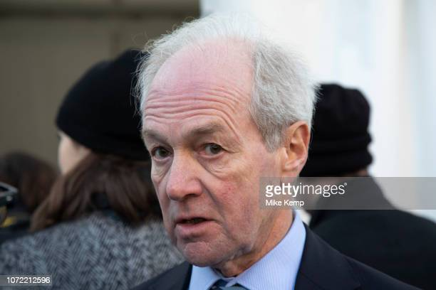 Lord Peter Lilley MP gives an interview to the media on the day that Conservative Party MPs triggered a vote of no confidence in the Prime Minister...