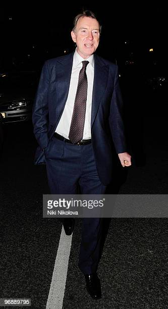 Lord Peter Mandelson sighted on February 19 2010 in London England