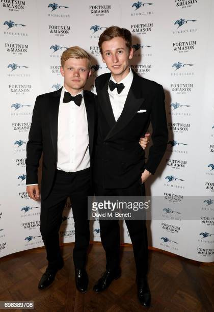Lord Porchester and Xander Warren attend the Highclere Thoroughbred Racing Royal Ascot Dinner at Fortnum Mason on June 15 2017 in London England