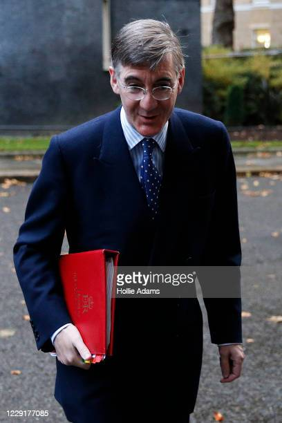 Lord President of the Council and Leader of the House of Commons Jacob ReesMogg arrives at Downing Street for the weekly cabinet meeting on October...