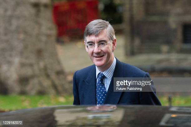 Lord President of the Council and Leader of the House of Commons Jacob ReesMogg arrives in Downing Street in central London to attend Cabinet meeting...
