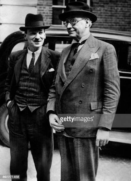 Lord Privy Seal and leader of the Labour Party Clement Attlee and Minister without Portfolio and Deputy leader of the Labour Party Arthur Greenwood...