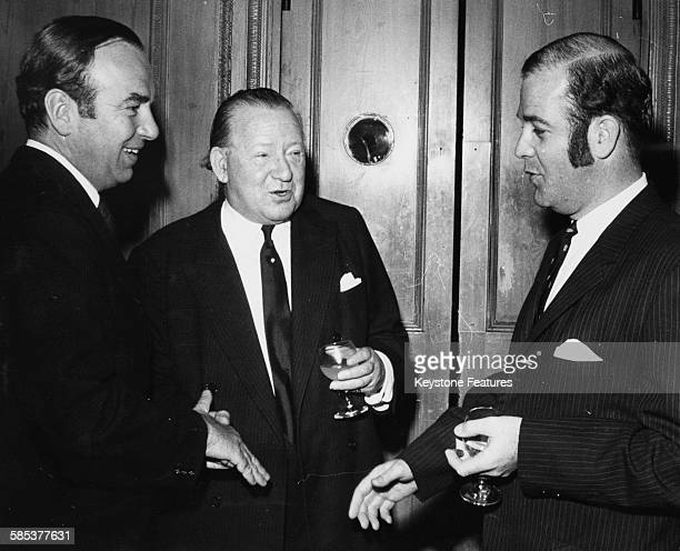Lord Renwick Chairman of the Council introducing 'News of the World' boss Rupert Murdoch to Phillip Lynch the Australian Minister for Immigration at...